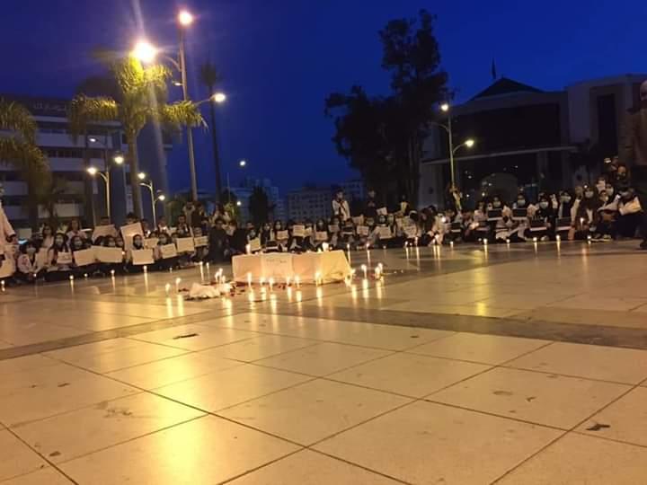 بالصور : تشييع جنازة التكوين الطبي العمومي من طرف طلبة الطب بجميع انحاء المملكة